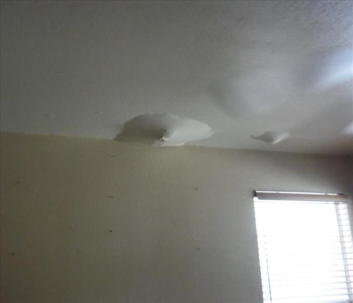 Water damage from storm flooding
