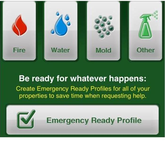 Image of fire, water, mold and other services with ERP on the bottom.